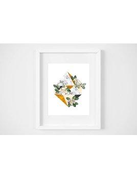 Fla Fla Diamond Flowers Print - 8x10