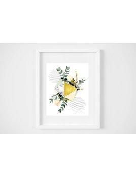 Fla Fla Geo Tulipe Print - 8x10