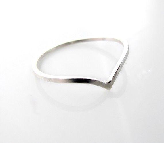 Le Cubicule Chevron Silver Ring