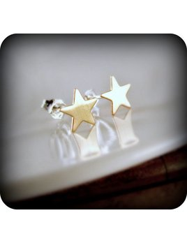 Le Cubicule Stars Brass Earrings