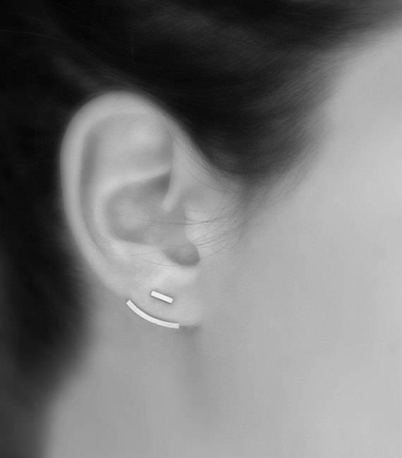 Le Cubicule Ear Jacket - Silver Bar