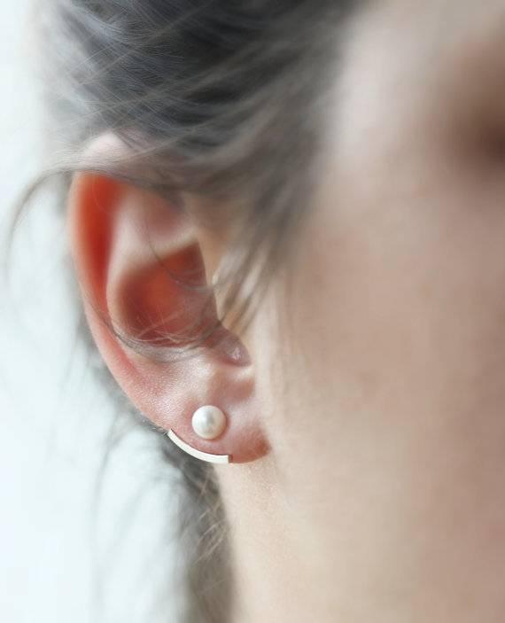 Le Cubicule Boucles d'oreilles jacket - perle 4mm