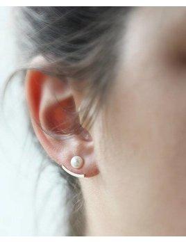 Le Cubicule Boucles d'oreilles jacket - perle 5mm