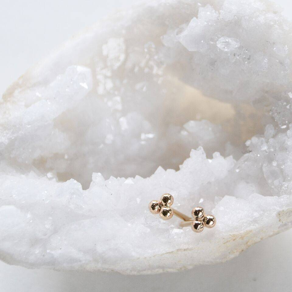 Hart and Stone Boucles d'oreilles Trois Pois