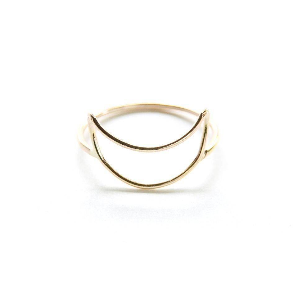 Hart and Stone Crescent moon ring
