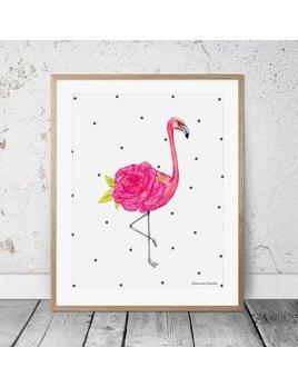Joannie Houle Flamingo poster