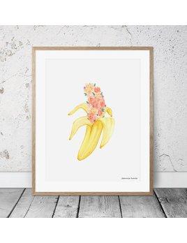 Joannie Houle Pastel Banana Poster 11x14