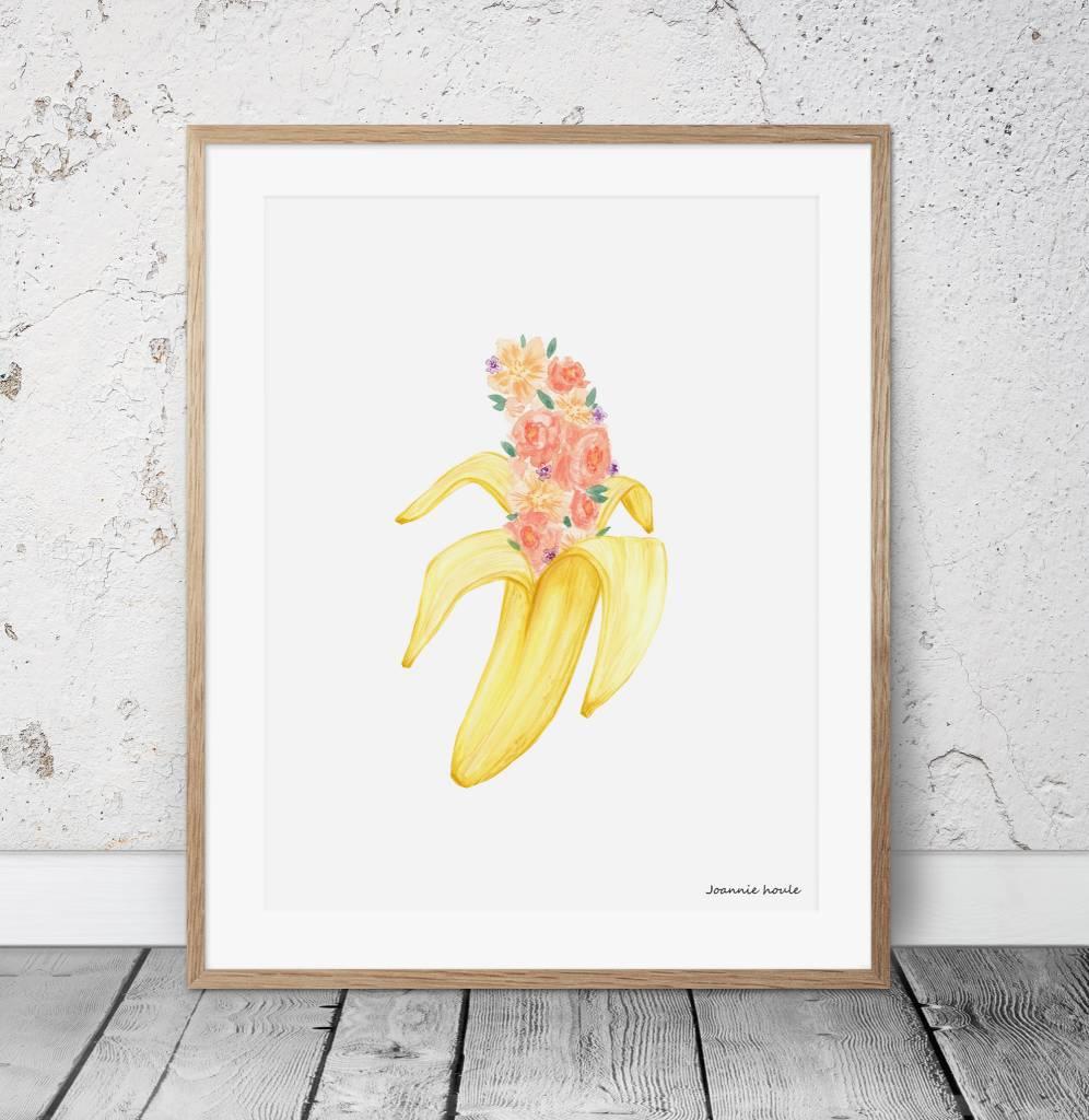 Joannie Houle Affiche 11x14 Banane Pastel