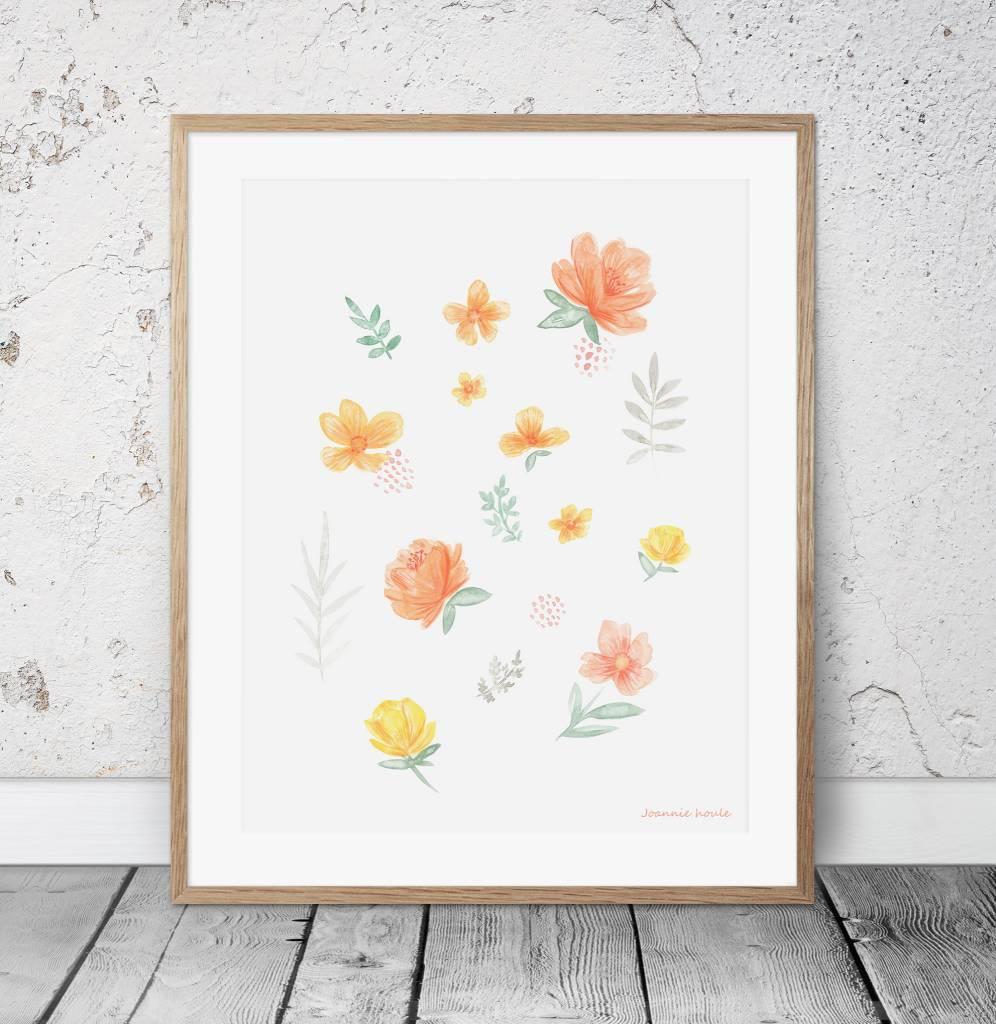Joannie Houle Floral Print Poster 11x14