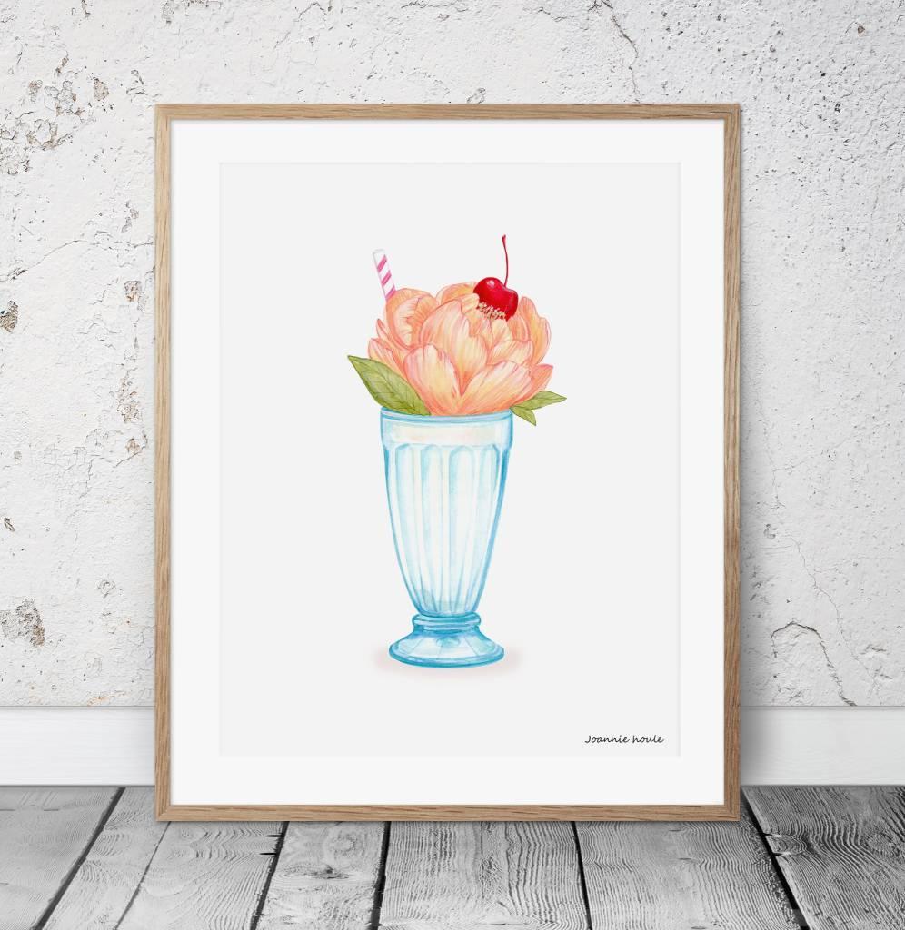 Joannie Houle Affiche 11x14 Sundae Fleuri
