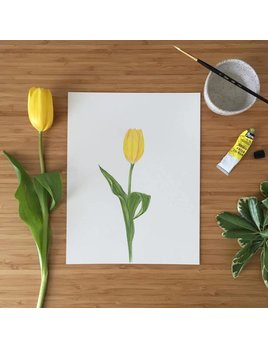 Joannie Houle Yellow Tulip Poster 11x14