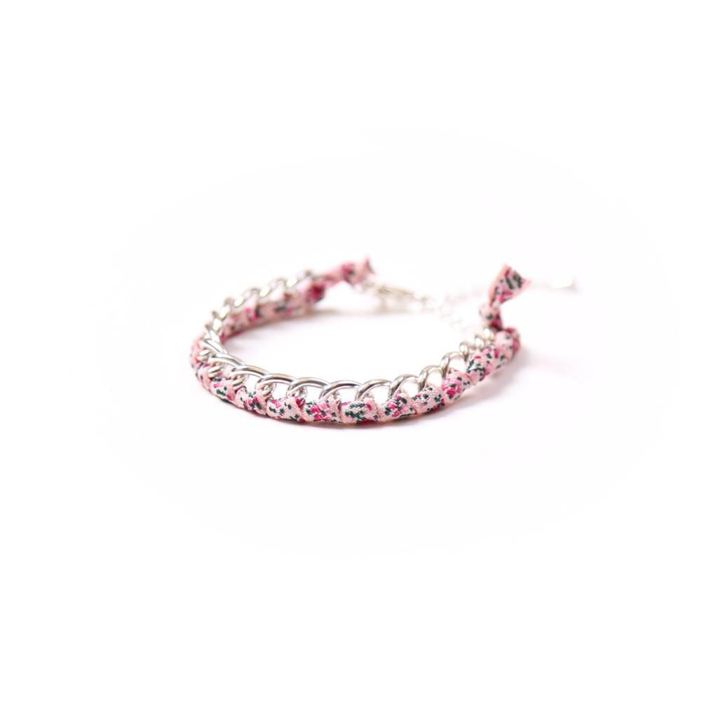 Si Simple Jade Flowers Bracelet