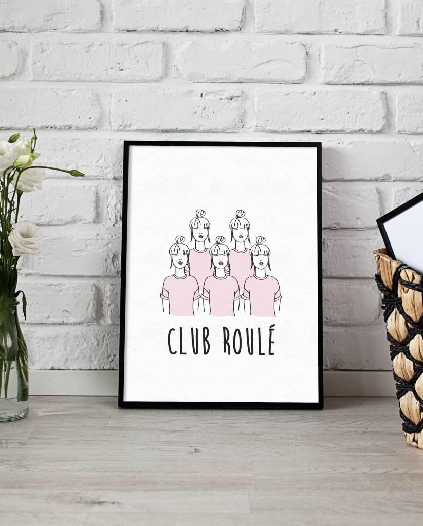 Fleur Maison Poster 8x10 Club Roulé Pink