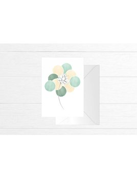 Fla Fla Bohemian Flower Greeting Card
