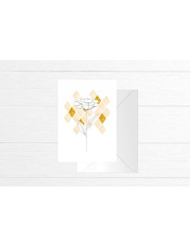 Fla Fla Diamond Flower Greeting Card