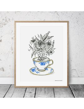 Joannie Houle Teacup Poster