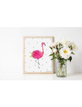 Joannie Houle Flamingo Print 11 x 14