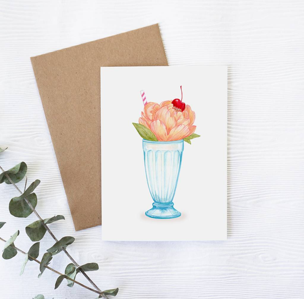 Joannie Houle Sundae Greeting Card
