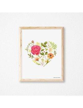 Joannie Houle Affiche 11x14 Amour Fleuri