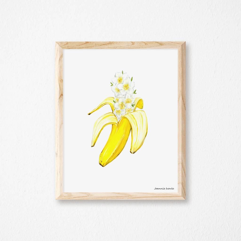 Joannie Houle Flower Banana Poster 11x14