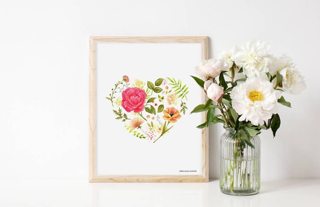 Joannie Houle Flower Heart Poster 8x10