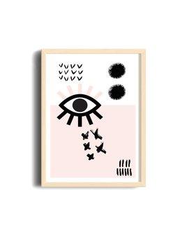 Toffie Geo Eye Poster