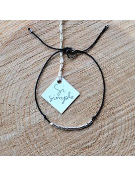 Si Simple Silver Bracelet