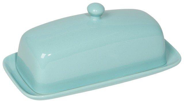 Turquoise Rectangular Butter Dish