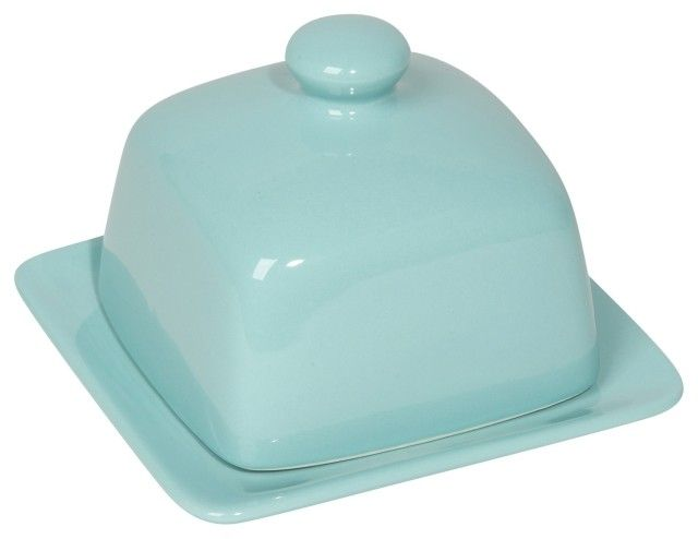 Blue Square Butter Dish