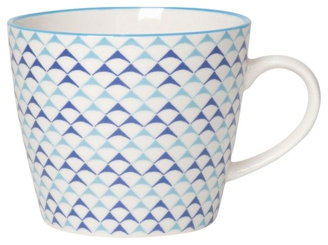 Danica/Now Blue Triangles Mug