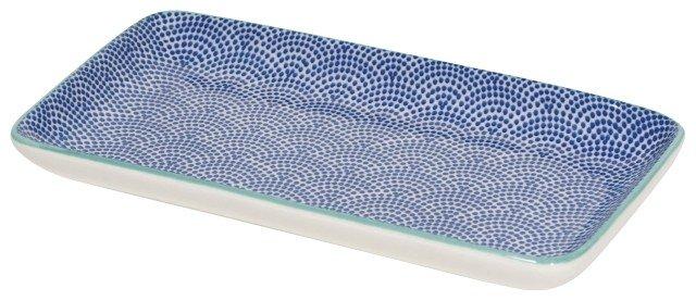 Danica/Now Assiette Rectangulaire Vagues Bleues