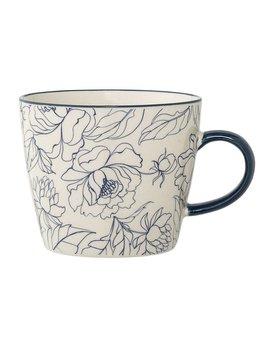 Design Home Tasse Fleur Bleue