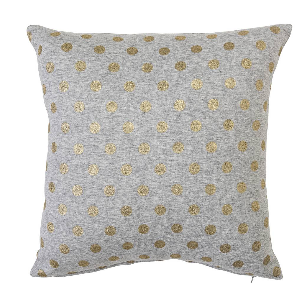 Design Home Grey and Gold Dots Pillow