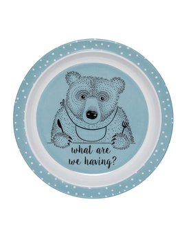 Design Home Blue Bear Plate