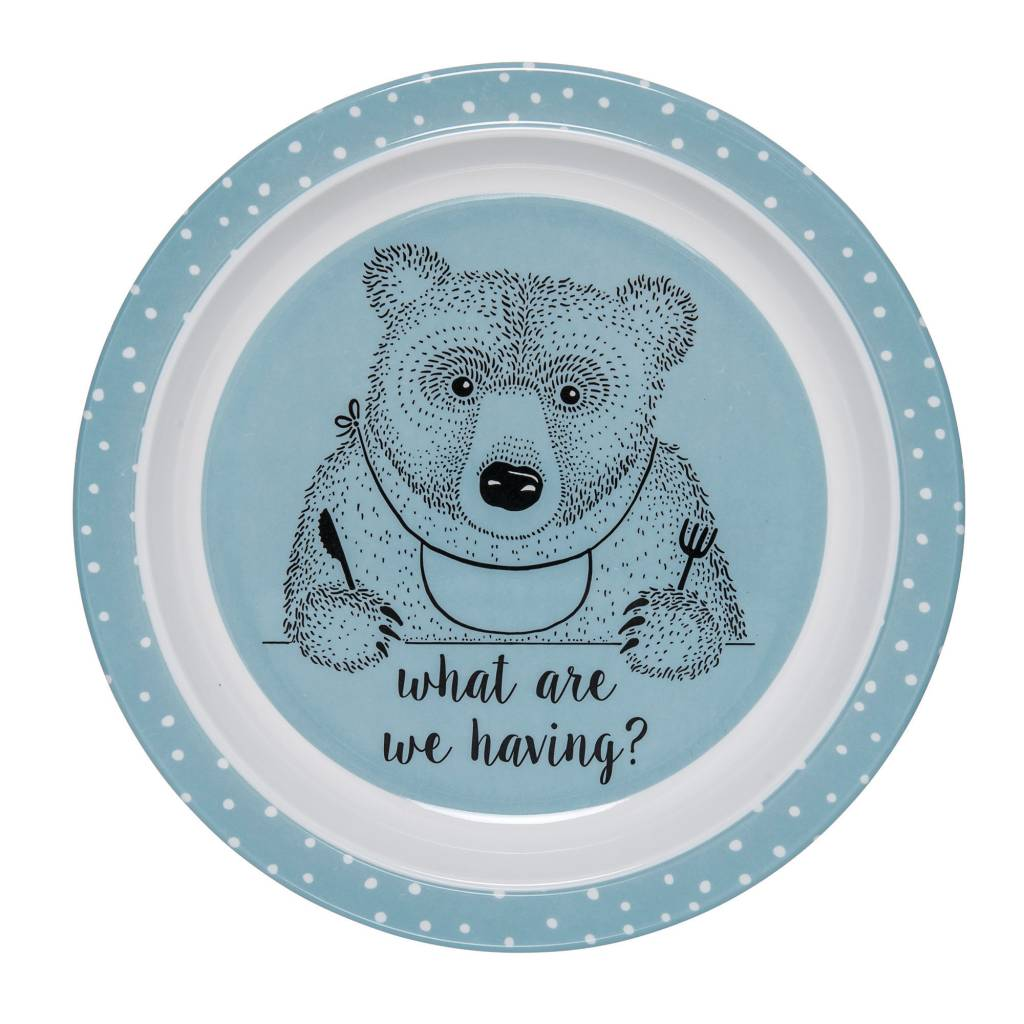 Design Home Blue Bear Plate