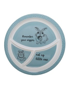 Design Home Blue Round Divided Plate