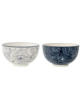 Bloomingville Blue Flower Bowl