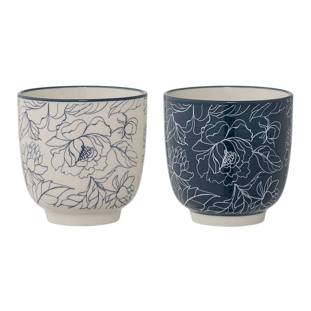 Bloomingville Blue Flower Cup