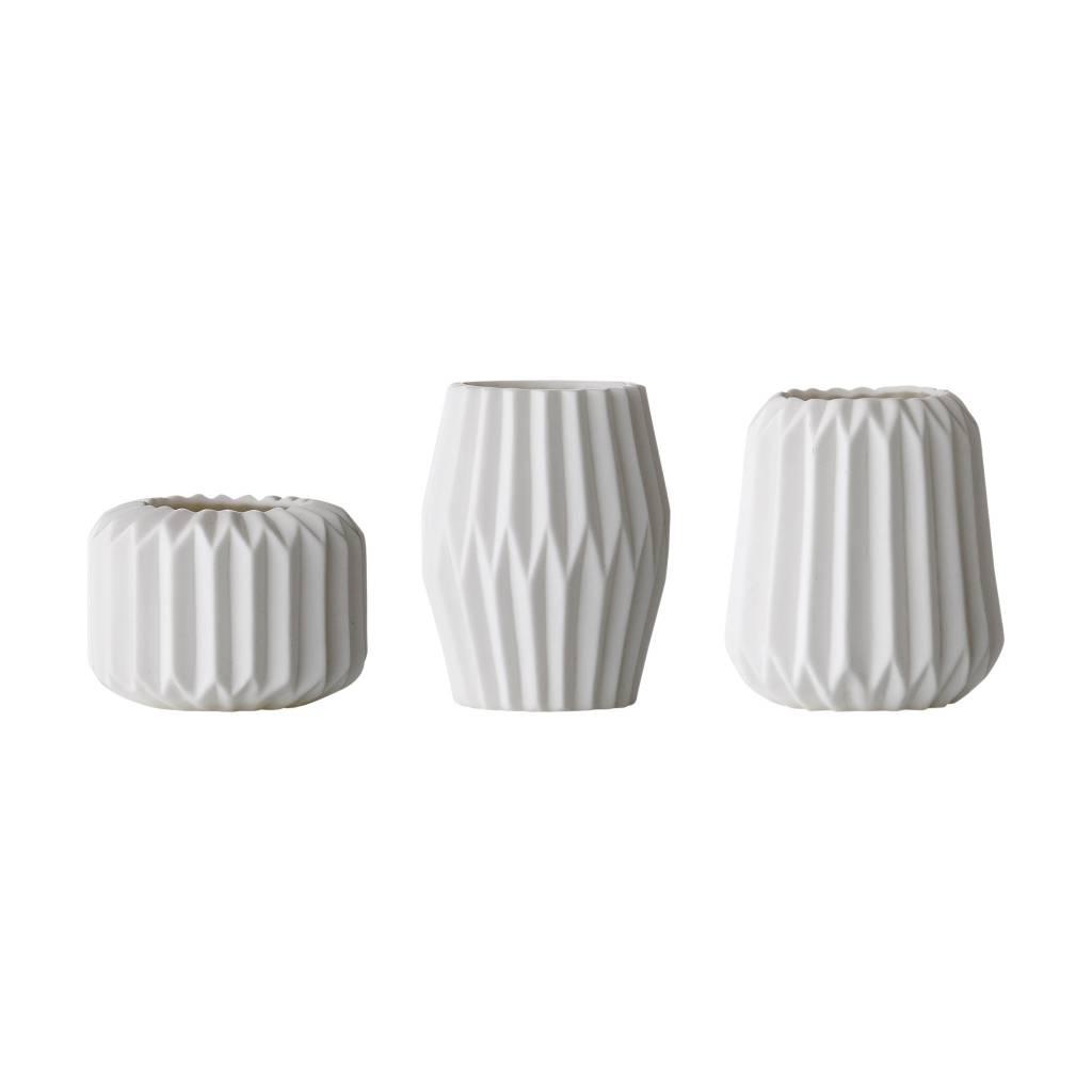 Bloomingville Petit Vase Flute Blanc