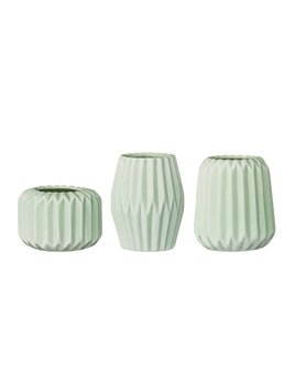 Bloomingville Small Fluted Mint Vase