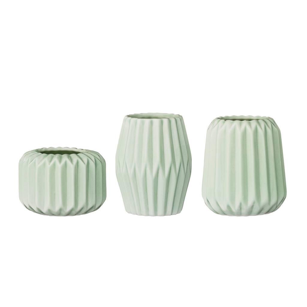 Bloomingville Petit Vase Flute Menthe