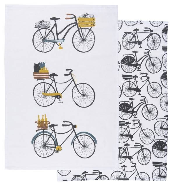Danica/Now Bicicletta Dishtowels  Set of 2