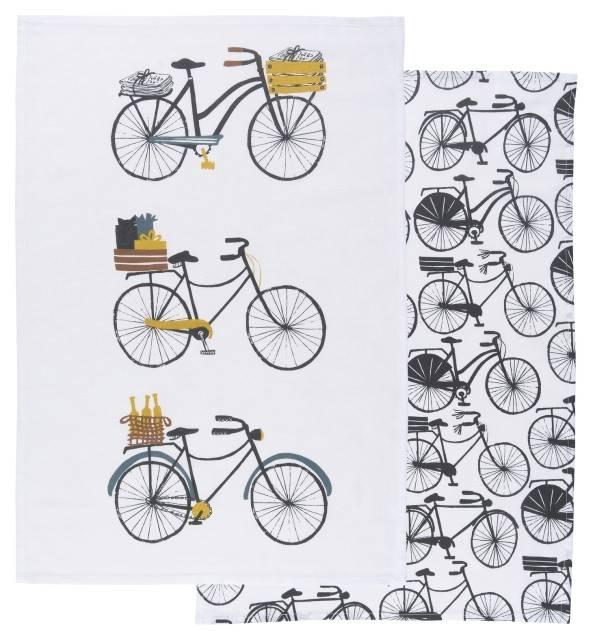 Danica/Now Ensemble 2 Linges Vaisselle Bicyclette