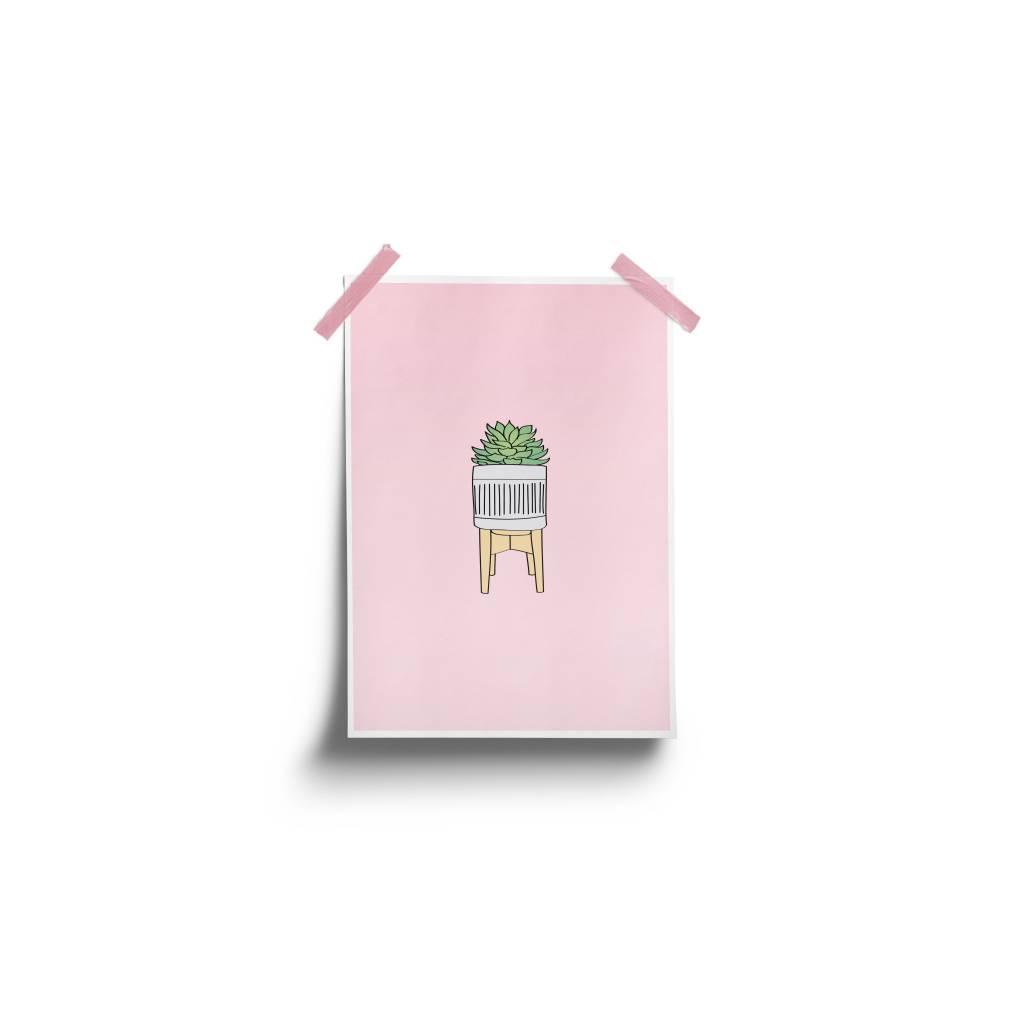 Fleur Maison Succulent Pink Poster