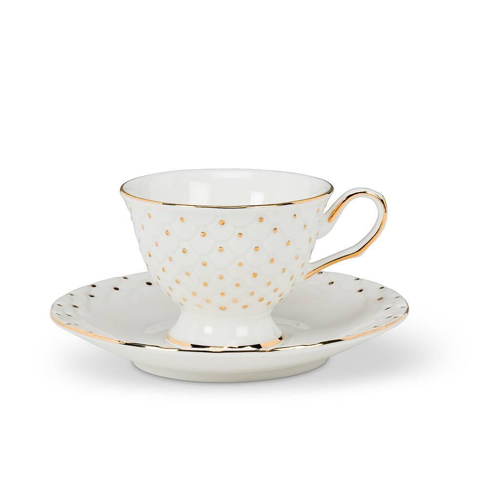 Abbott Espresso Cup & Saucer Dot