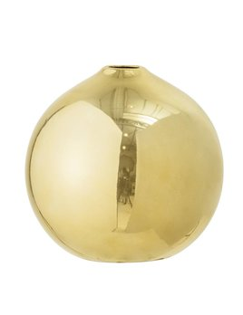 Bloomingville Round Gold Finish Vase