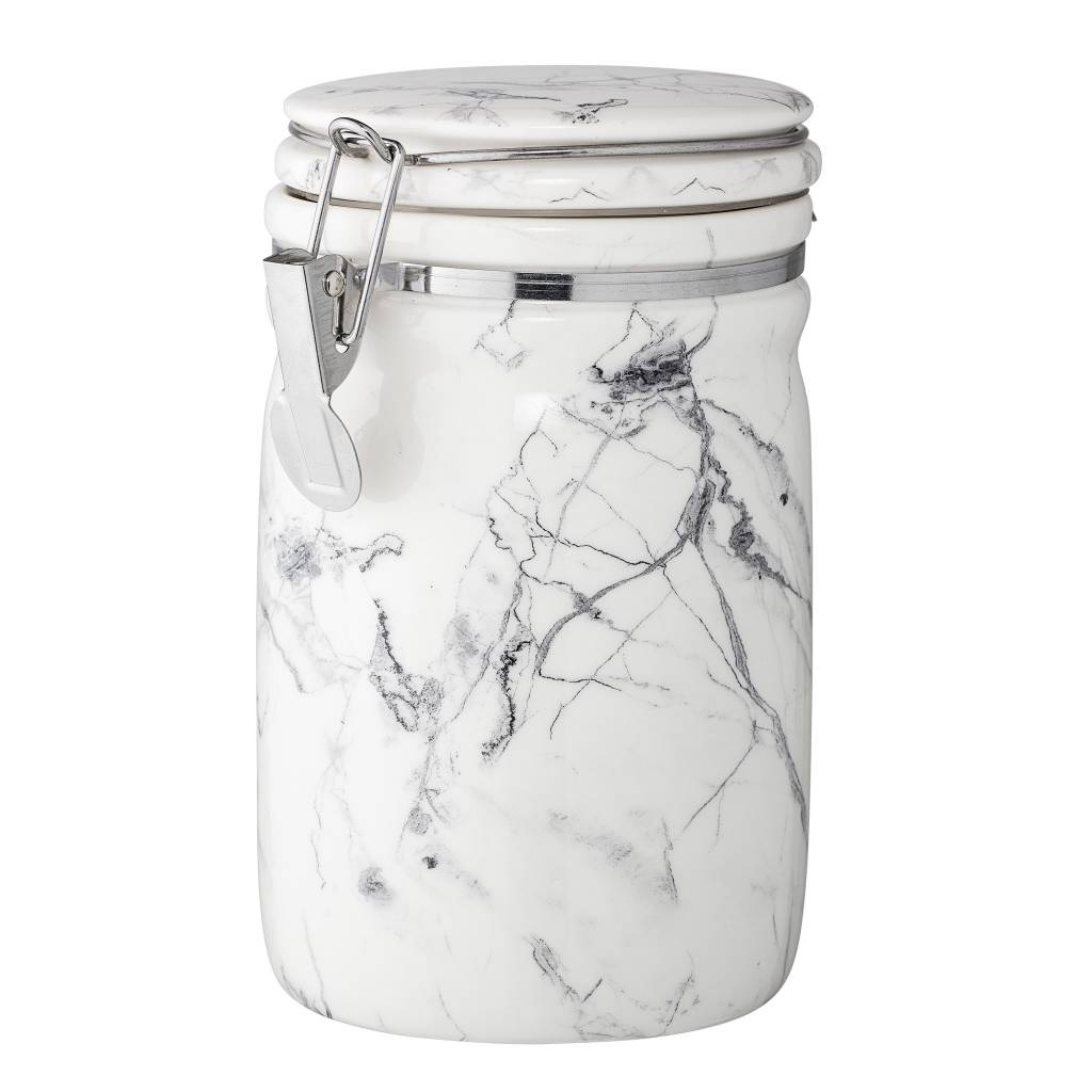 Bloomingville Tall Marbled Porcelain Canister