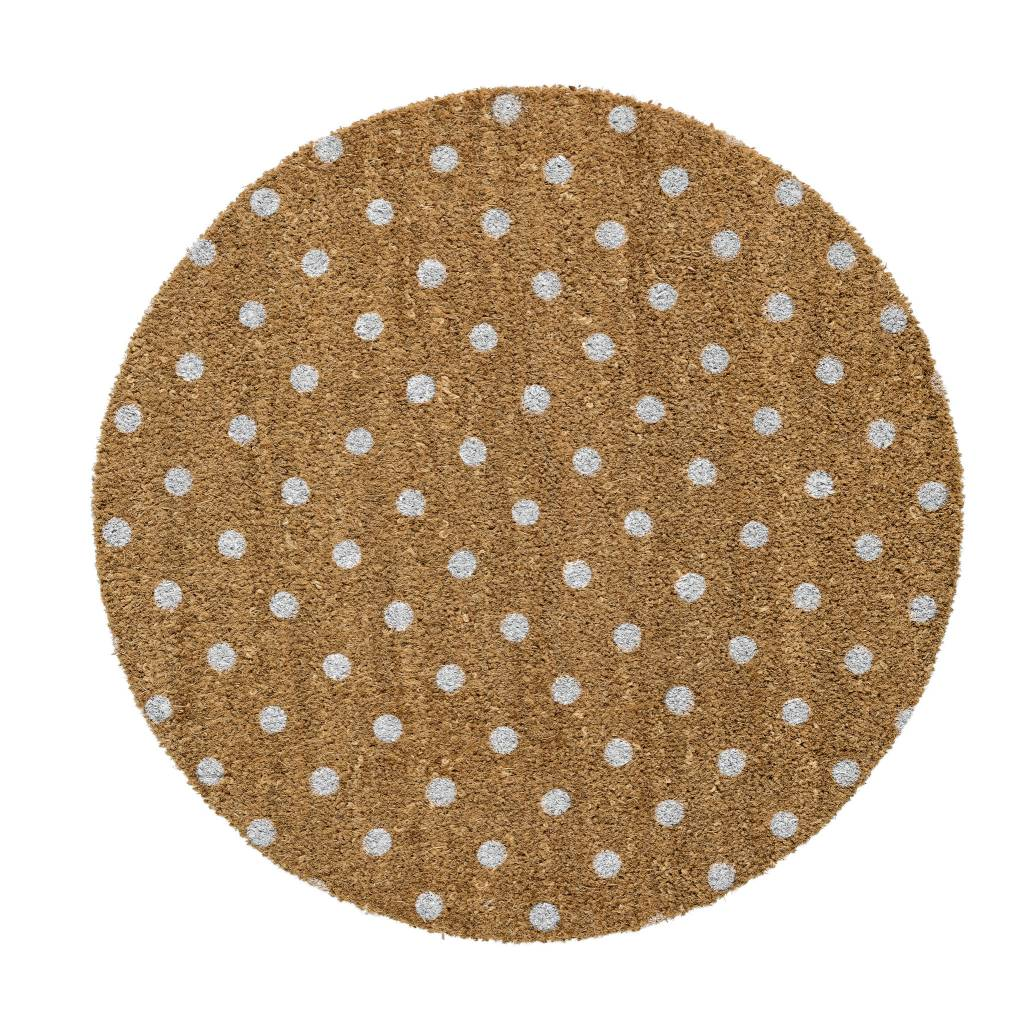Bloomingville Tapis Circulaire Pois