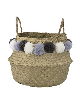 Design Home Pom Pom Blue Basket