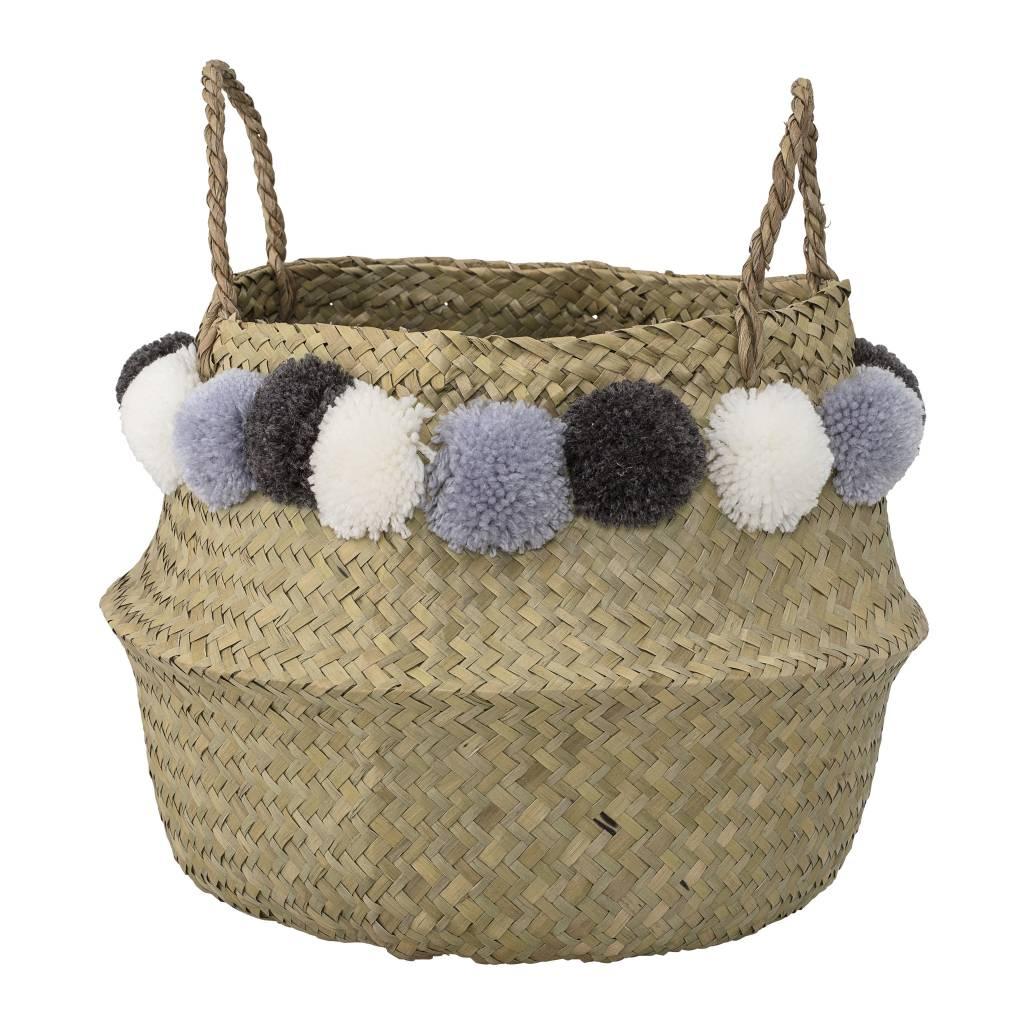 Design Home Pom Pom Blue Basket